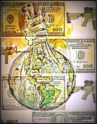 The World Is Money Print by Paulo Zerbato