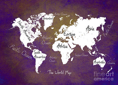The World Map Print by Justyna JBJart