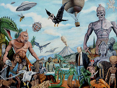 Pegasus Painting - The World Of Ray Harryhausen by Tony Banos