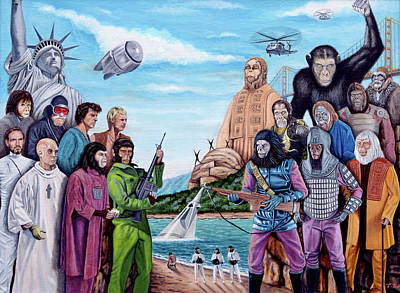 The World Of The Planet Of The Apes Original by Tony Banos