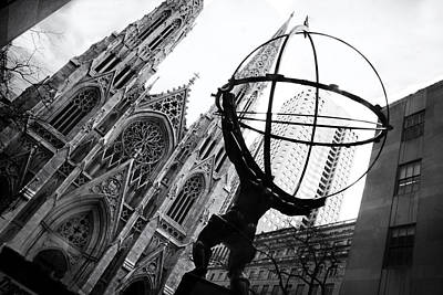 St. Patricks Cathedral Photograph - The World On His Shoulders by Jessica Jenney