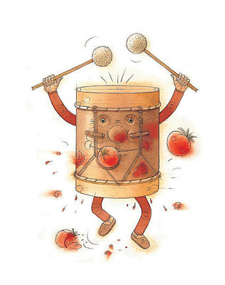 Drum Drawing - The Worst Musician by Kestutis Kasparavicius