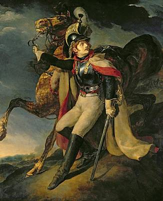 1814 Painting - The Wounded Cuirassier by Theodore Gericault