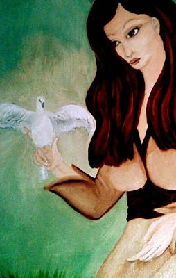 Twin Flame Painting - The Wounded Healer Of Peace by Wendy Wunstell