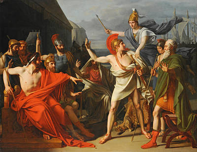 Achilles Painting - The Wrath Of Achilles by Michel-Martin Drolling