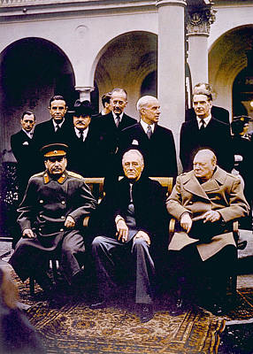 The Yalta Conference, Seated Joseph Print by Everett