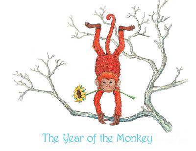 The Year Of The Monkey Print by Nonna Mynatt