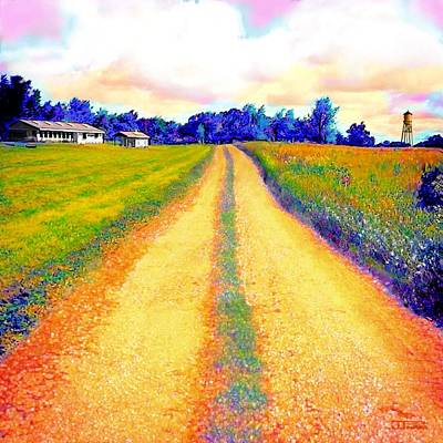 The Yellow Dirt Road Print by Jann Paxton