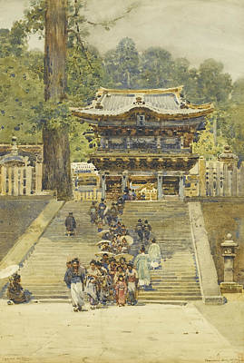 Shrine Painting - The Yomeimon Gate Of Tosho-gu Shrine by Robert Weir Allan