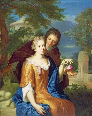 The Young Lovers Print by Gerard Hoet