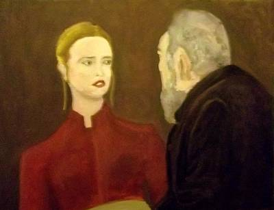 Aghast Painting - The Young Woman Aghast by Peter Gartner
