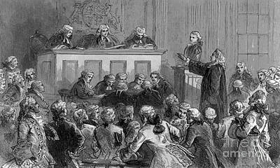 The Zenger Case, 1735 Print by Photo Researchers