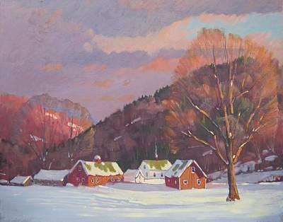 Berkshire Hills Living Painting - The Zieminski Farm by Len Stomski