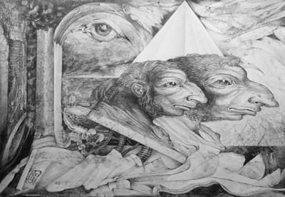 The Zwerg Nase Twins Dreaming Of World Domination Original by Otto Rapp