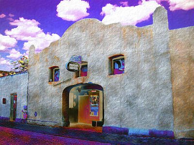 Las Cruces Digital Art - Theater Night Mesilla by Kurt Van Wagner