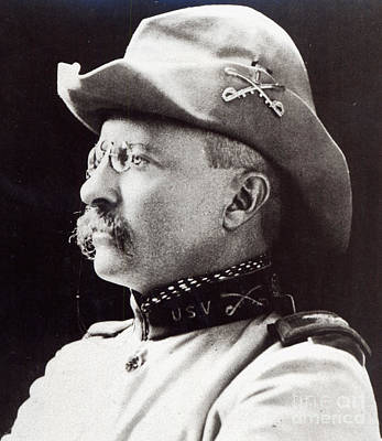 Cavalry Photograph - Theodore Roosevelt As Lieutenant-colonel Of 1st Us Volunteer Cavalry In 1898 by American School