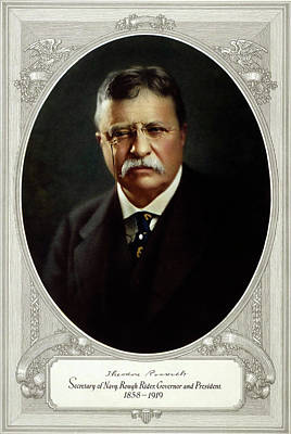 Theodore Roosevelt - Great American Series C. 1920 Print by Daniel Hagerman