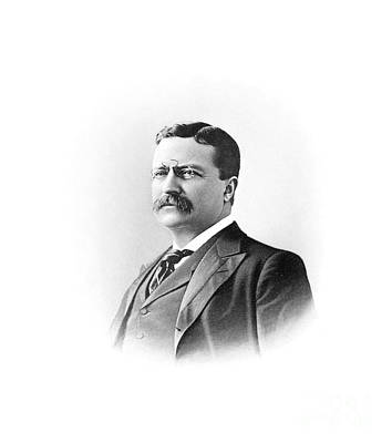 Theodore Roosevelt Former President Of The United States Print by Celestial Images