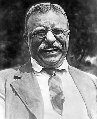 Laugh Photograph - Theodore Roosevelt Laughing by International  Images