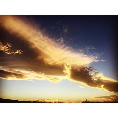 Desert Photograph - There Are Some Excellent #clouds by Alex Snay