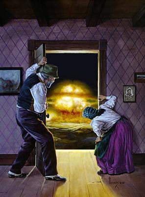 Mushroom Painting - There Goes The Neighborhood by Richard Hescox