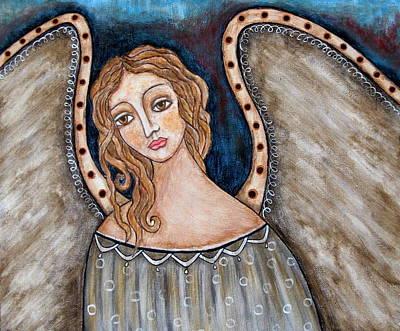 Christian Art . Devotional Art Painting - There by Rain Ririn