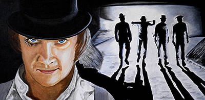 Clockwork Orange Painting - There Was Me That Is Alex And My Three Droogs by Al  Molina