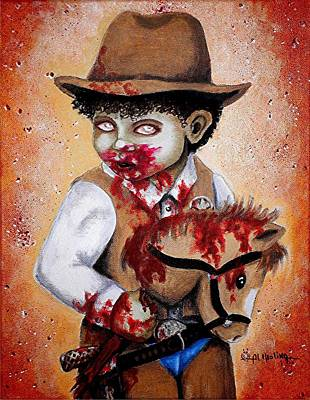 There's A New Sheriff In Town And He Wants To Eat Your Brains Print by Al  Molina