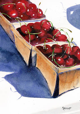 Pie Painting - There's A Pie Awaiting by Marsha Elliott