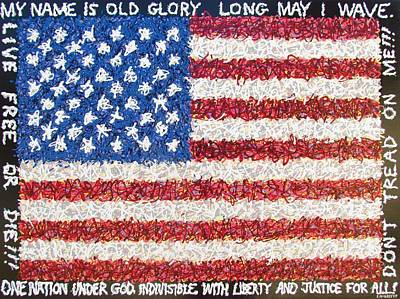 Old Glory Mixed Media - These Colors Don't Run by Eric McGreevy