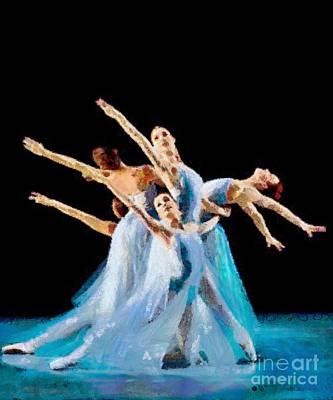 They Danced Print by Catherine Lott