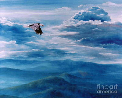 They Shall Mount Up On Wings Of Eagles Print by Ann  Cockerill