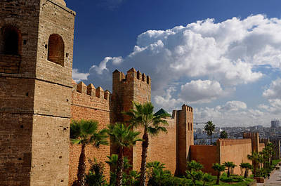 Rabat Photograph - Thick Ramparts Of The Oudaia Kasbah With Modern Rabat Morocco In by Reimar Gaertner