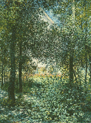 Forest Floor Painting - Thicket  The House Of Argenteuil by Claude Monet