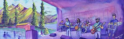 Dillon Painting - Thin Air At Dillon Amphitheater by David Sockrider