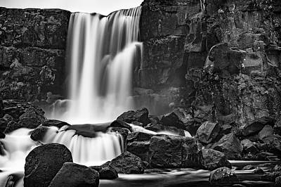 Modernart Photograph - Thingvellir Waterfall by Liran Eisenberg