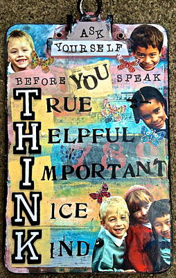 Think Before You Speak Print by Kathy Donner Parara