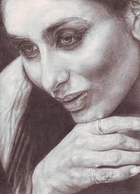 Kareena Kapoor Drawing - Thinking Beauty Is Waiting For Love by Smriti Jaiswal