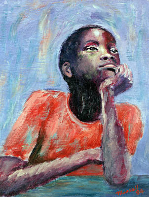 African-american Painting - Thinking by Carlton Murrell