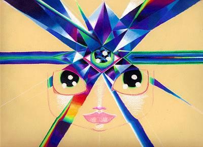 Chakra Rainbow Drawing - Third Eye Chakra by Nalinne Jones