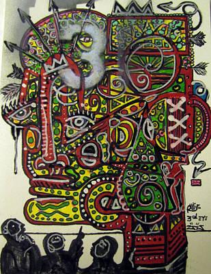 Folk Art Mixed Media - Third Eye by Robert Wolverton Jr