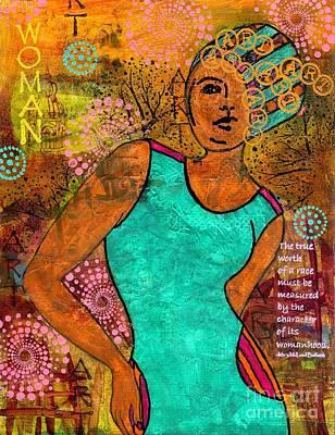 This Artist Speaks Truth Print by Angela L Walker