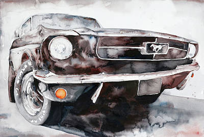 Ford Mustang Painting - This Is Black Sunshine by Jamie Hansen
