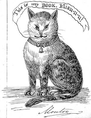 Pen And Ink Drawing Photograph - This Is My Book, Miau-u-u, 1859 by Wellcome Images