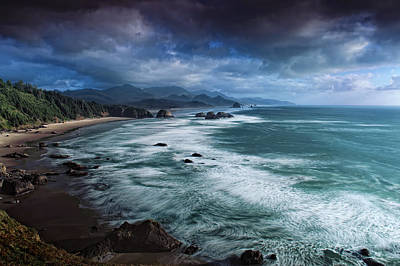 This Is Oregon State No.16 - Cannon Beach Waves Original by Paul W Sharpe Aka Wizard of Wonders