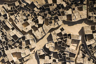 This Old Salt Slab Town In Dirkou Print by Michael Fay
