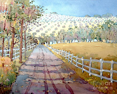 Painting - This Way To The Vineyard by Joyce Hicks