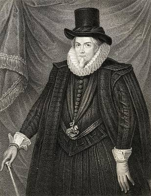 Lord Drawing - Thomas Cecil 1st Earl Of Exeter Lord by Vintage Design Pics