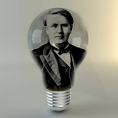 Thomas Edison Mixed Media - Thomas Edison by Marvin Blaine