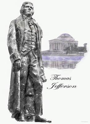 Thomas Jefferson Drawing - Thomas Jefferson by Mark Stephens